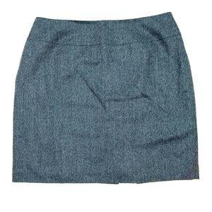 Talbots Womens Sz 18 100% Wool Pencil Skirt Blue